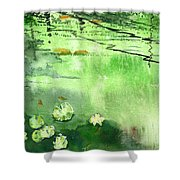 Reflections 1 Shower Curtain by Anil Nene