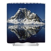 Reflections With Ice Shower Curtain by Antarctica