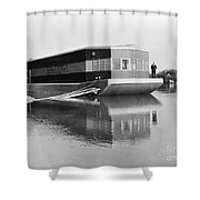 REFRIGERATED BARGE, c1935 Shower Curtain by Granger