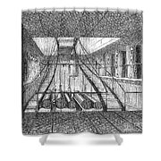 REFRIGERATED SHIP, 1876 Shower Curtain by Granger