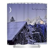 Remember This December Shower Curtain by Sabine Jacobs