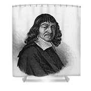Rene Descartes, French Polymath Shower Curtain by Science Source