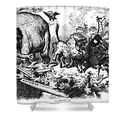 Republican Elephant, 1874 Shower Curtain by Granger