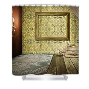 Retro Room Interior Shower Curtain by Setsiri Silapasuwanchai