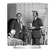 RICHARD CHENEY (1941- ) Shower Curtain by Granger