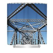 Richmond-san Rafael Bridge In California - 5d19549 Shower Curtain by Wingsdomain Art and Photography