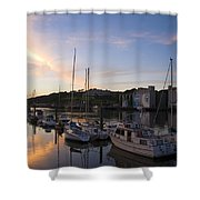 River Suir, From Millenium Plaza Shower Curtain by The Irish Image Collection
