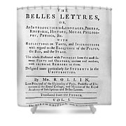 Rollin: Title Page, 1769 Shower Curtain by Granger