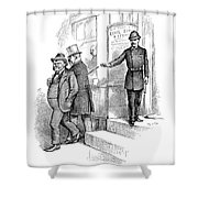 Roosevelt Cartoon, 1884 Shower Curtain by Granger