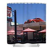 Route 66 Cruisers Williams Arizona Shower Curtain by Bob Christopher