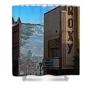 Roxy Theater And Mural Shower Curtain by Ed Gleichman