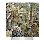 Rural Coach Stop, 1842 Shower Curtain by Granger