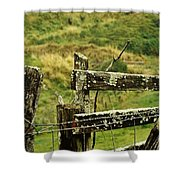 Rustic Fence Shower Curtain by Marilyn Wilson