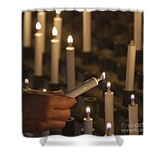Sacrificial Candles 3 Shower Curtain by Heiko Koehrer-Wagner