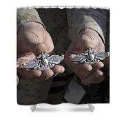 Sailors Display Their Fleet Marine Shower Curtain by Stocktrek Images