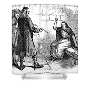 Salem Trials: Martha Corey Shower Curtain by Granger