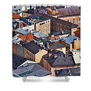 Salzburg's Roofs Austria Europe Shower Curtain by Sabine Jacobs