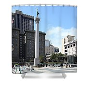 San Francisco - Union Square - 5d17933 Shower Curtain by Wingsdomain Art and Photography