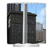 San Francisco - Union Square - 5D17934 Shower Curtain by Wingsdomain Art and Photography