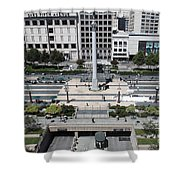 San Francisco - Union Square - 5d17942 Shower Curtain by Wingsdomain Art and Photography