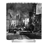 San Francisco Burning After 1906 Shower Curtain by Science Source