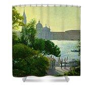San Giorgio - Venice  Shower Curtain by Timothy Easton