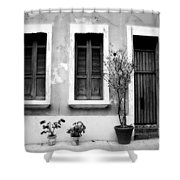 San Juan Living 2 Shower Curtain by Perry Webster