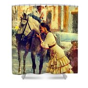 San Miguel Fair In Torremolinos Shower Curtain by Jenny Rainbow