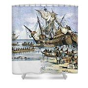 Santa Maria: Wreck, 1492 Shower Curtain by Granger