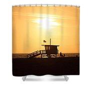 Santa Monica California Sunset Photo Shower Curtain by Paul Velgos