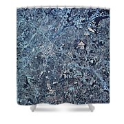Satellite View Of Charlotte, North Shower Curtain by Stocktrek Images