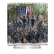 Sc: Emancipation, 1863 Shower Curtain by Granger