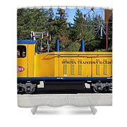 Scale Locomotive - Traintown Sonoma California - 5D19237 Shower Curtain by Wingsdomain Art and Photography