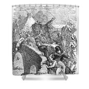 SCOTLAND: ANTI-TORY RIOT Shower Curtain by Granger