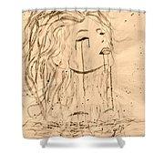 Sea Woman 2 Shower Curtain by Georgeta  Blanaru