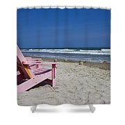 Seas The Chair Shower Curtain by Betsy C  Knapp