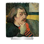 Self Portrait Shower Curtain by Paul Gauguin
