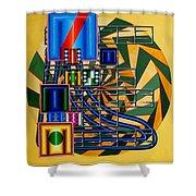 Sendintank Shower Curtain by Mark Howard Jones