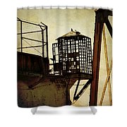 Sentry Box In Alcatraz Shower Curtain by RicardMN Photography
