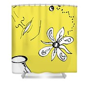 Serenity In Yellow Shower Curtain by Mary Mikawoz