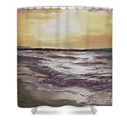 Sesuit Sunset Shower Curtain by Jack Skinner