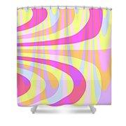 Seventies Swirls Shower Curtain by Louisa Knight