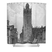 Seville: The Giralda Shower Curtain by Granger
