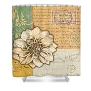 Shabby Chic Floral 1 Shower Curtain by Debbie DeWitt