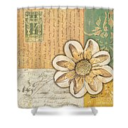 Shabby Chic Floral 2 Shower Curtain by Debbie DeWitt