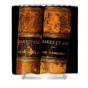 Shakespeare Leather Bound Books Shower Curtain by The Irish Image Collection