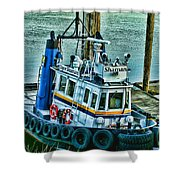 Shaman Tug-HDR Shower Curtain by Randy Harris