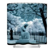 She Dreams In Blue Shower Curtain by Gothicolors Donna Snyder