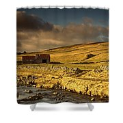 Shed In The Yorkshire Dales, England Shower Curtain by John Short