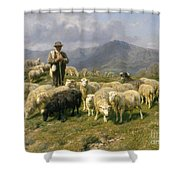 Shepherd Of The Pyrenees Shower Curtain by Rosa Bonheur